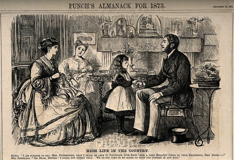 A_well-to-do_mother_resistant_to_her_daughters_doctor_using_Wellcome_V0011390